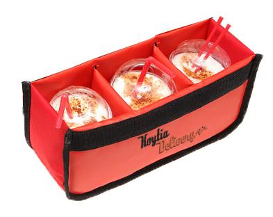 Αποσπώμενη θερμομονωτική τριπλή εσωτερική βάση καφέ delivery διανομής