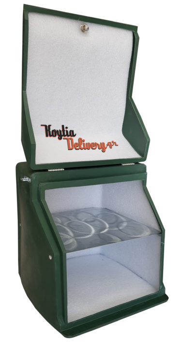 Εξωτερική πράσινο κουτί διανομής ντελίβερι delivery πολυεστερικό πολυκαρμπονάτο Αθήνα Κορυδαλλός