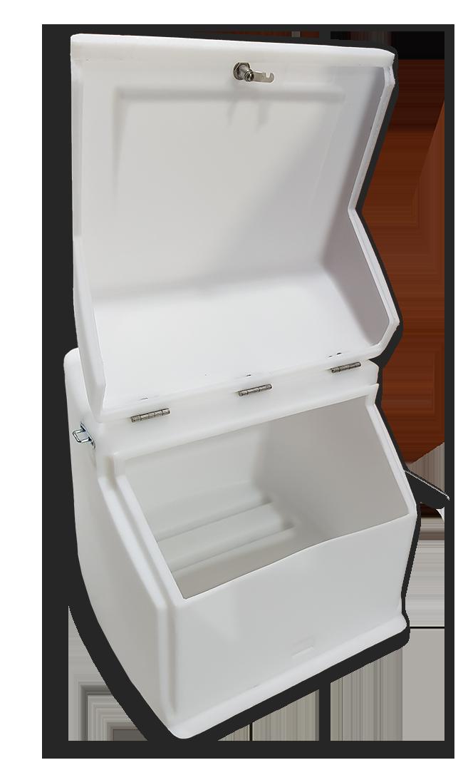Κουτί ταχυδρομείου κούριερ ΕΛΤΑ Speedex ACS πλαστικό γίγας μεγάλο Αθήνα άσπρο