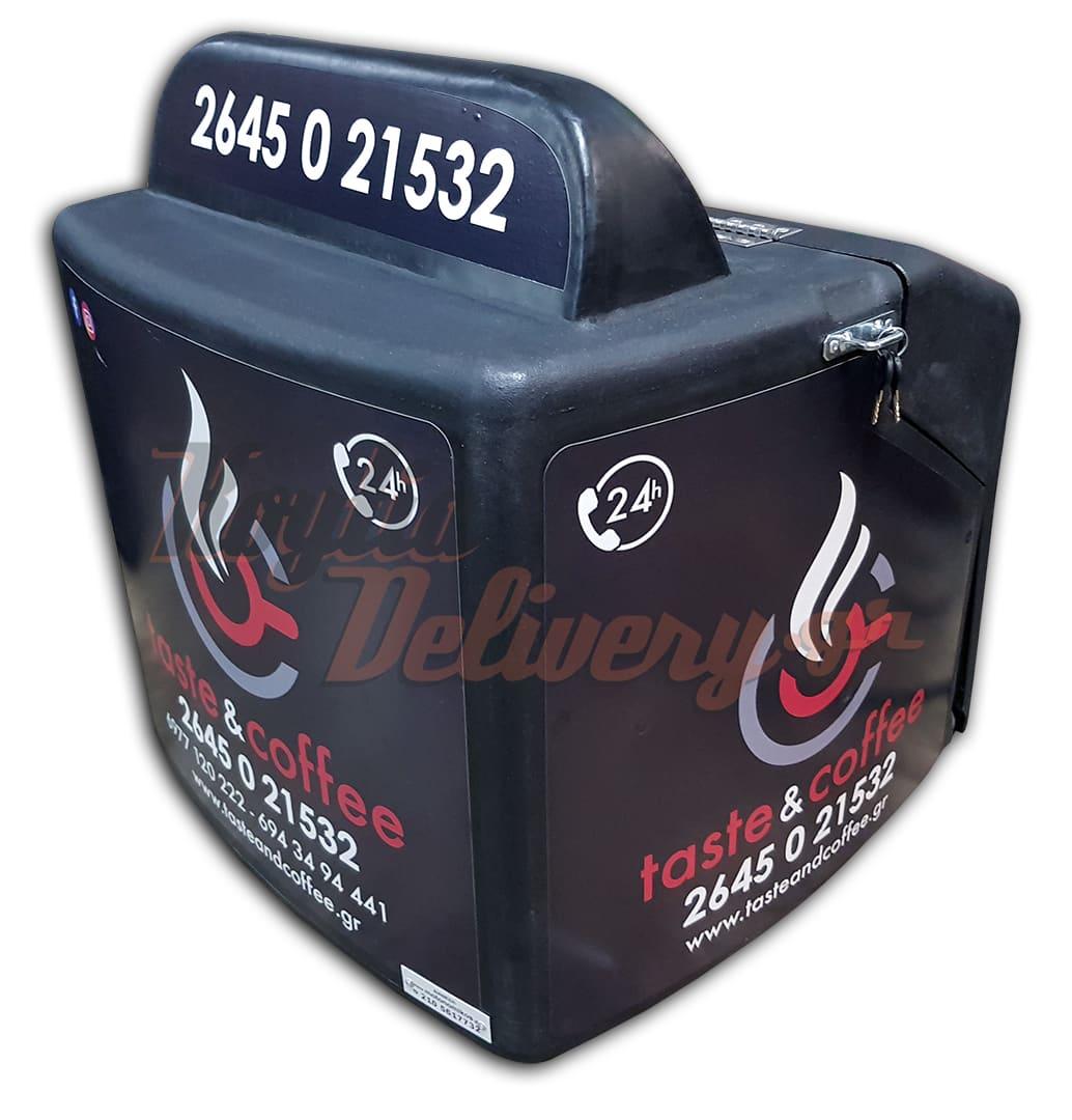 Κουτί delivery μεγάλο box 4 καφέ Taste and Coffee