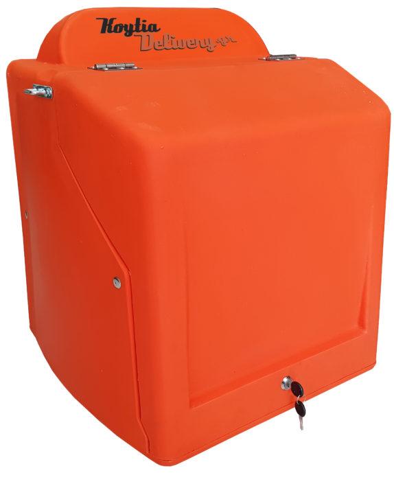 Κουτιά delivery πορτοκαλί κλειστό πολυαιθυλένιο moto nomikos κορυδαλλος αθήνα μεταχειρισμένα