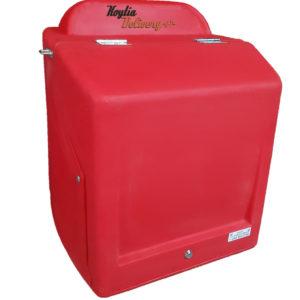 Κόκκινο κουτί ντελίβερι delivery διανομής πλαστικό απο πολυαιθυλένιο