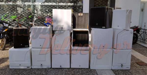 Μεταχειρισμένα κουτιά delivery ντελιβερι διανομής courier από 30€