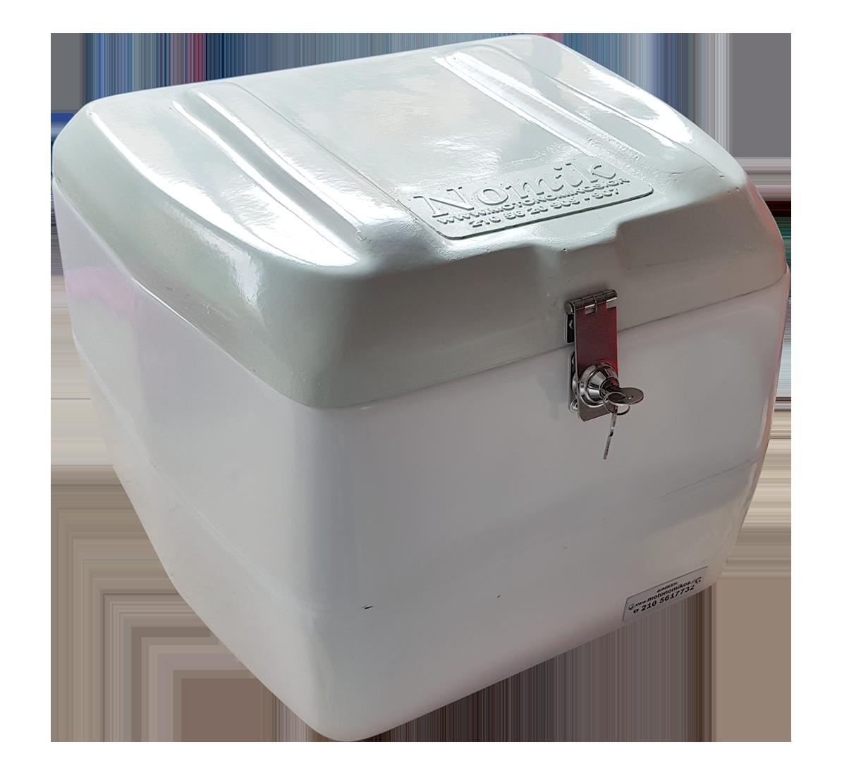 Μικρό κουτί ταχυμεταφορών κούριερ ταχυδρομείου NOMIK δικής μας κατασκευής απο πολυεστέρα τύπου ΕΛΤΑ SPEED