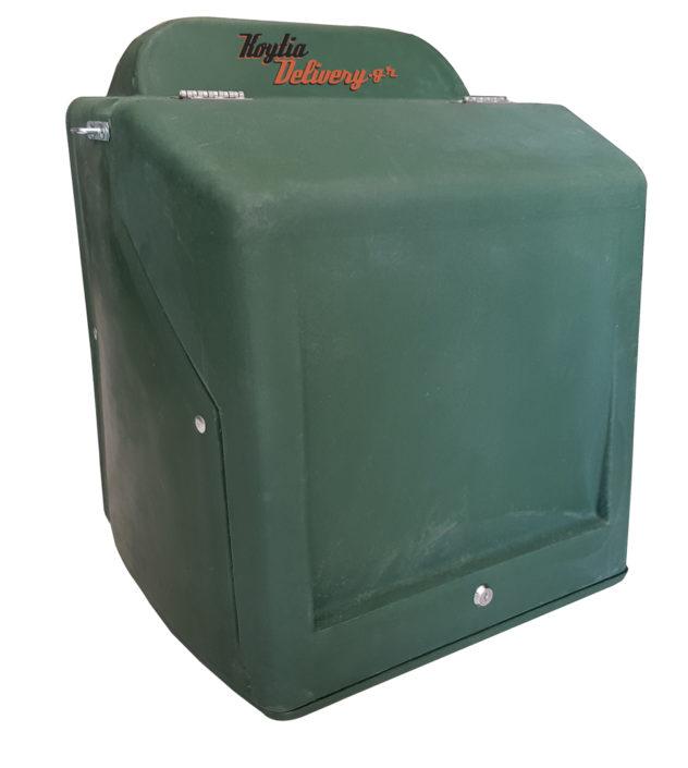 Πράσινο κουτί ντελίβερι delivery διανομής πλαστικό απο πολυαιθυλένιο