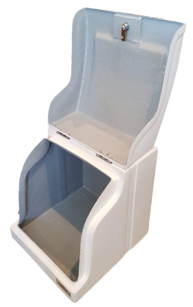 Φωτογραφία εσωτερικού χώρου πολυεστερικού κουτιού delivery NK01 χωρίς εσωτερική επένδυση και ράφι