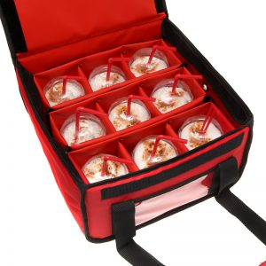 Αποσπώμενη εσωτερική θερμομονωτική βάση ισοθερμικού σάκου διανομής delivery για καφέ και ροφήματα