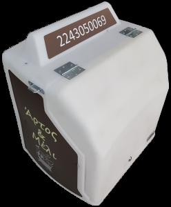 Εκτύπωση μακέτας λογότυπου για κουτί διανομής delivery με φως led