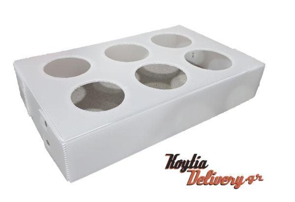 Πλαστική βάση θερμόσακου ισοθερμικού σάκου για 6 καφέδες
