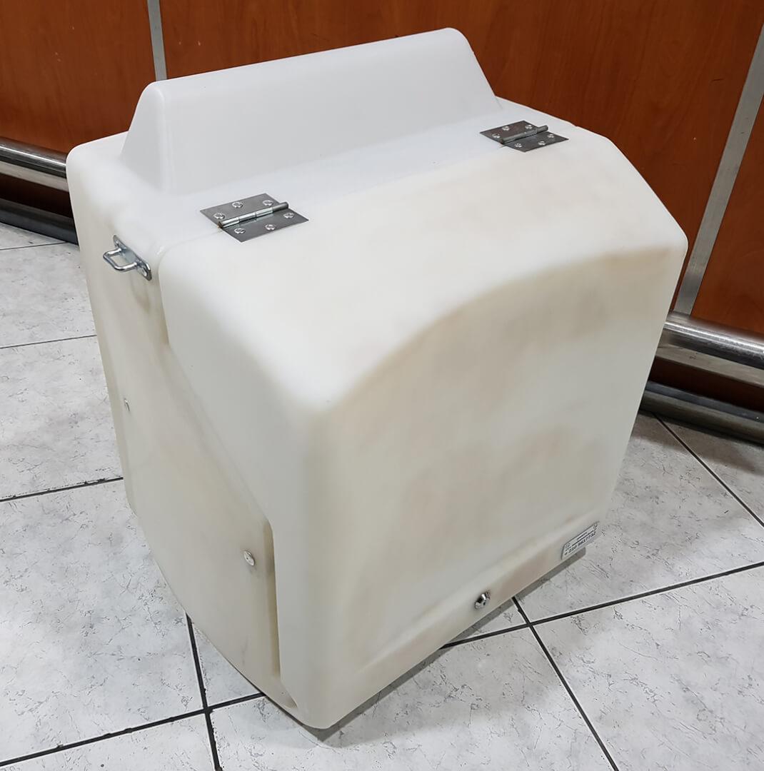 Εκθεσιακού άσπρου κουτιού delivery